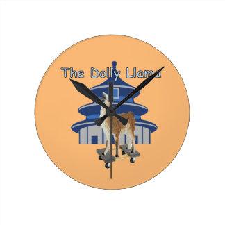 The Dolly Llama Round Clock
