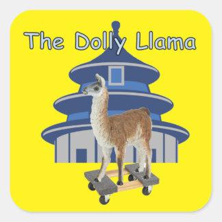 The Dolly Llama Square Sticker