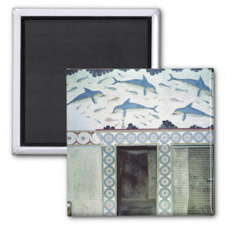 The Dolphin Frescoes in the Queen's Bathroom Magnet