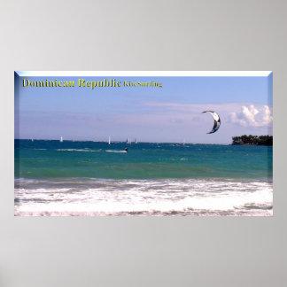 The Dominican Republic Beaches Poster Kitesurfing