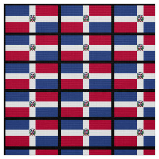 The Dominican Republic Flag Fabric