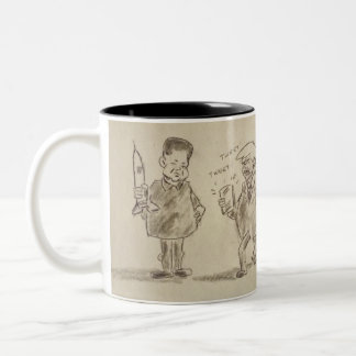The Donald and Kim Two-Tone Coffee Mug