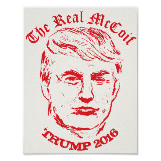 The Donald: The Real McCoif Funny Political Poster