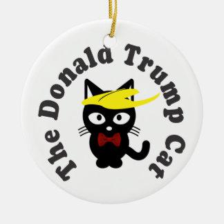 The Donald Trump Cat Toupee Humor Round Ceramic Ornament