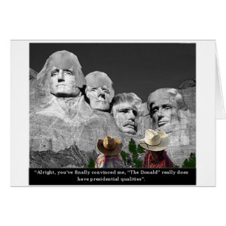 """""""The Donald's Presidental Qualities"""" Greeting Card"""