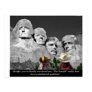 """The Donald's Presidental Qualities"" Postcard"