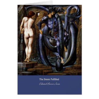 """The Doom Fulfilled"", by Edward Burne-Jones Card"