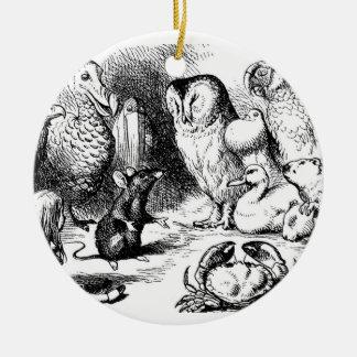 The Dormouse Tells a Story Ceramic Ornament