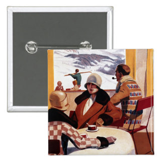 The Downhill Club Promotional Poster 2 Inch Square Button