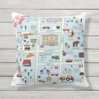 The Downtown McKinney Outdoor pillow