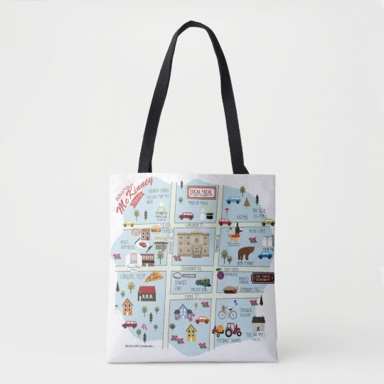 The Downtown McKinney Texas (+ Texas Heart)  Tote! Tote Bag