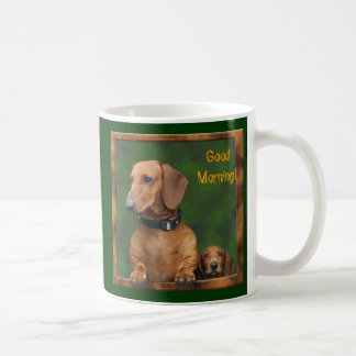 The Doxies say Good Morning! Coffee Mug