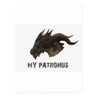 THE DRAGON IS MY PATRONUS DESIGNS POSTCARD