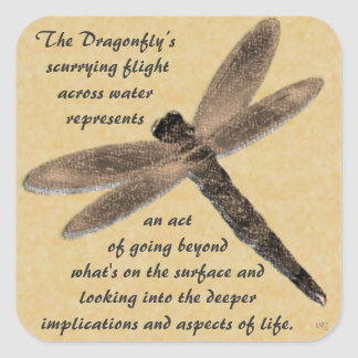 The Dragonfly's Flight Square Sticker