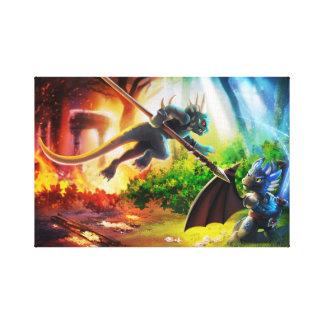 The Dragons of Fyremantle Canvas Print.