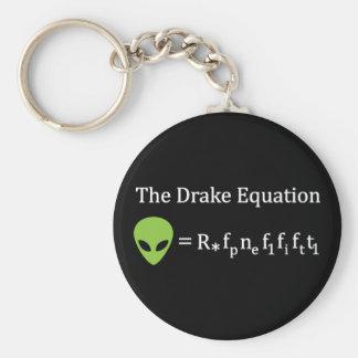The Drake Equation Basic Round Button Keychain