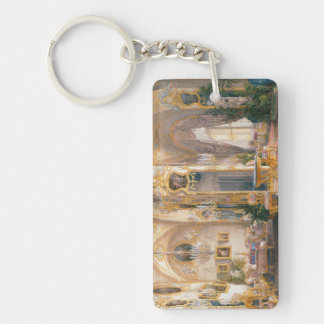 The Drawing Room in Rococo II Style, with Cupids Double-Sided Rectangular Acrylic Keychain