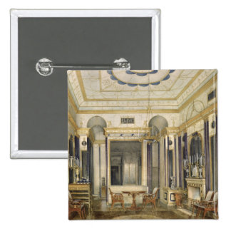 The Drawing Room of the Empress Maria 2 Inch Square Button