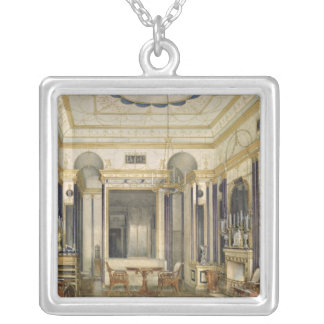 The Drawing Room of the Empress Maria Silver Plated Necklace