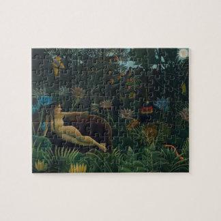 The Dream by Henri Rousseau, Vintage Impressionism Jigsaw Puzzle