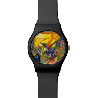 The Dream Fantasy Psychedelic Art Alice Wonderland Watch