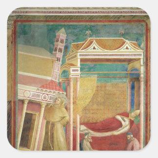 The Dream of Innocent III, 1297-99 Square Sticker