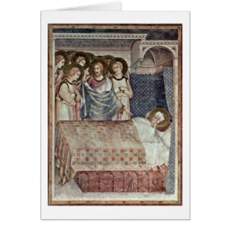 The Dream Of St. Martin By Simone Martini Card