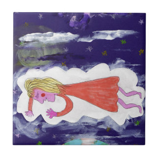 The Dreaming Child Tile