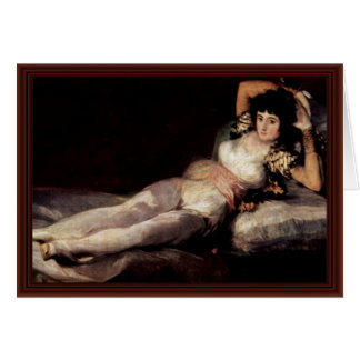 The Dressed Maja,  By Francisco De Goya Greeting Card