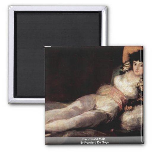 The Dressed Maja,  By Francisco De Goya Refrigerator Magnets
