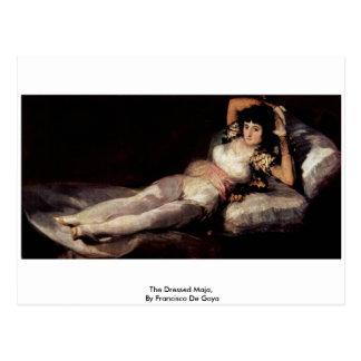 The Dressed Maja,  By Francisco De Goya Postcard