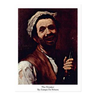 The Drinker By Jusepe De Ribera Postcard