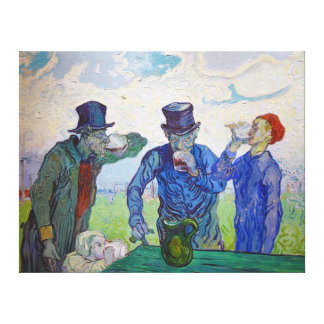 The Drinkers by Vincent van Gogh (1890) Canvas Print