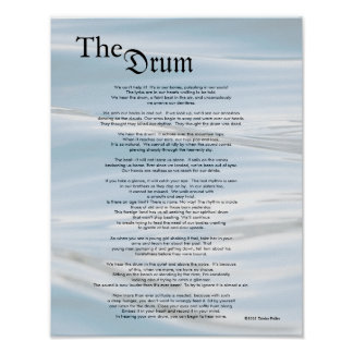 The Drum ©2012 by Trinka Polite (poster) Poster