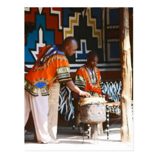 The Drum Beats Of Africa Postcard