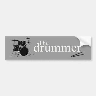 The drummer bumper sticker