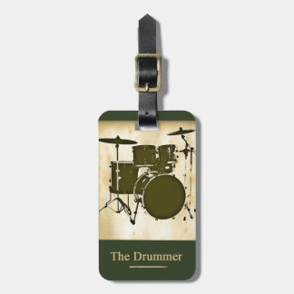 the drummer of the band luggage tag
