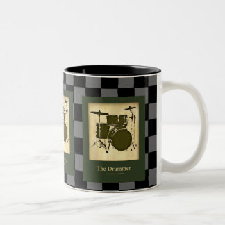 the drummers .  checkers Two-Tone mug