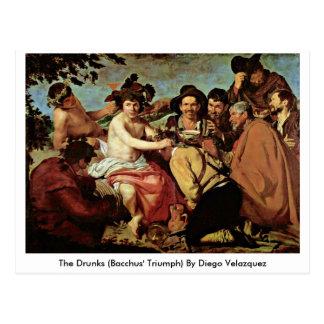 The Drunks (Bacchus' Triumph) By Diego Velazquez Postcard