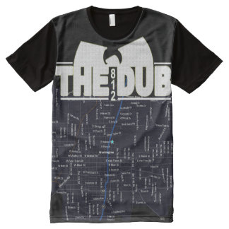 The Dub with City Map All-Over-Print T-Shirt