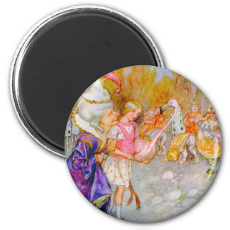 THE DUCHESS GIVES ALICE TIPS IN FLAMINGO CROQUET 2 INCH ROUND MAGNET