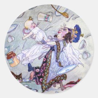 The Duchess & the Pig Baby in Alice in Wonderland Classic Round Sticker