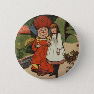 The Duchess walking in Gardens with Alice 2 Inch Round Button