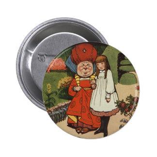 The Duchess walking in Gardens with Alice 2 Inch Round Button