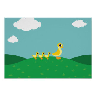 The Duck Family Poster