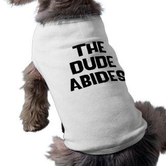 The Dude Abides Dog Tshirt