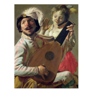 The Duet, 1628 Postcard