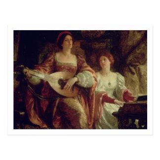 The Duet (oil on canvas) Postcard