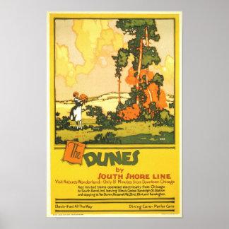 The Dunes- Visit Nature's Wonderland Poster