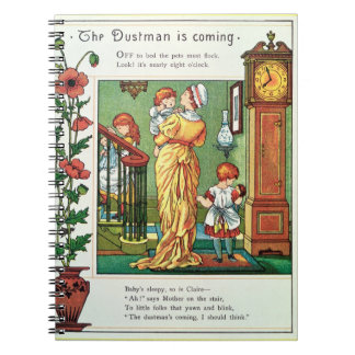 The Dustman is Coming (nursery rhyme illustration) Spiral Note Books
